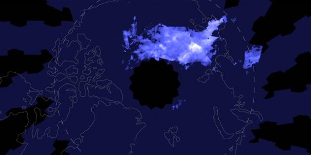 Kuzey Kutbu'nda 'gece parlayan bulutlar' görüldü
