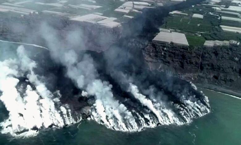 Cumbre Vieja'nın lavları denizde 500 metreden fazla bir platform oluşturdu