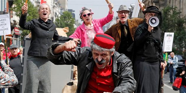 Belçikalılar emeklilik yaşının 67 olmasına karşı