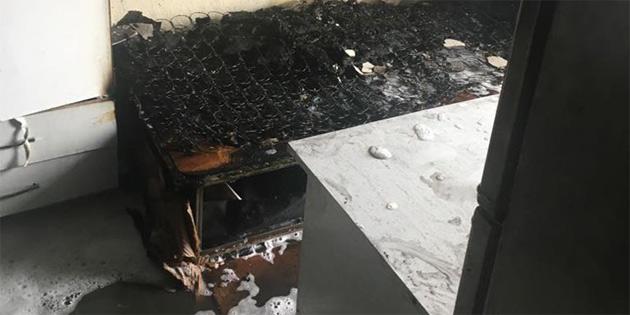 Isparta'da öğrencilerin kaldığı binada tüp patladı