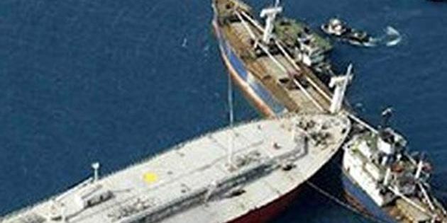 Çin'e ait iki gemi uluslararası sularda çarpıştı