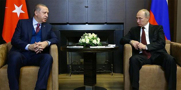 TC Cumhurbaşkanı Erdoğan, Putin ile Kudüs'ü görüştü