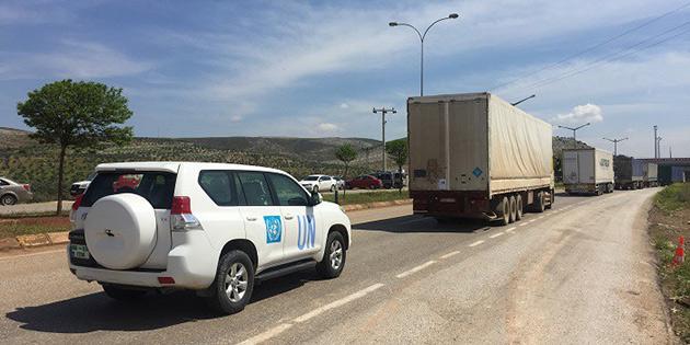 BM'den Suriyelilere 14 tır insani yardım