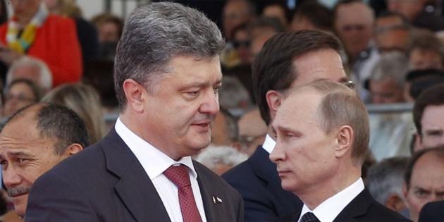 Putin, Poroşenko ile Ukrayna krizini görüştü