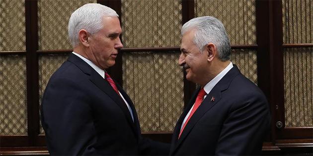 TCBaşbakanı Yıldırım, ABD Başkan Yardımcısı Pence ile görüştü