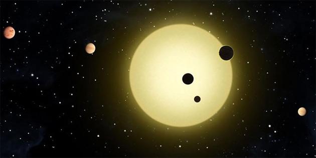 Aynı yıldızın etrafında dönen öte gezegenler tıpatıp aynı