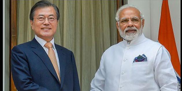 Güney Kore Devlet Başkanı Hindistan'da
