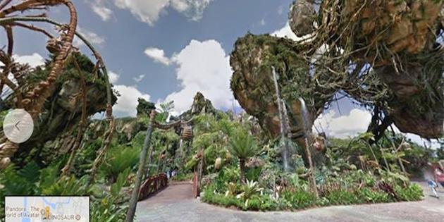 Disney Parklar, Google Maps'ten detaylı ziyaret edilebilecek