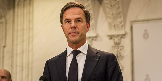 Hollanda'da hükümeti kurma görevi Rutte'a verildi
