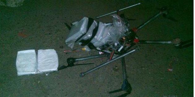 'Drone' ile uyuşturucu kaçakçılığı