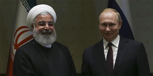 Putin, Ruhani ile Suriye'yi görüştü