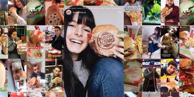 Instagram üzerinden kişiselleştirilmiş burger
