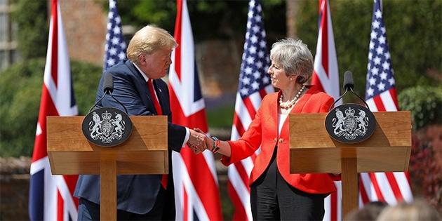 Trump'tan May'e 'AB'yi dava et' tavsiyesi