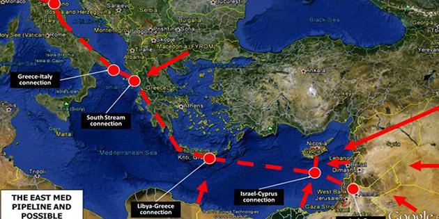 East Med boru hattının yolu açıldı