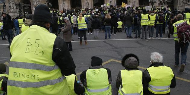 Fas'ta 'Sarı yelekliler' eylemi