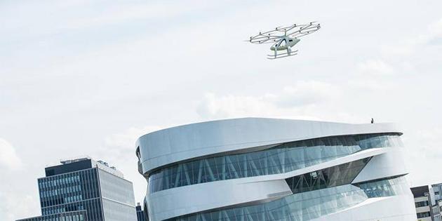 Volocopter'a ait uçan taksi, Avrupa'daki ilk kent içi uçuşunu gerçekleştirdi
