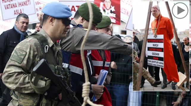 Şehit Halisdemir davası öncesi protesto