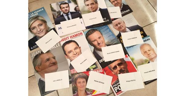 Fransa'da oy pusulalarının seçmenlere dağıtımına başlandı