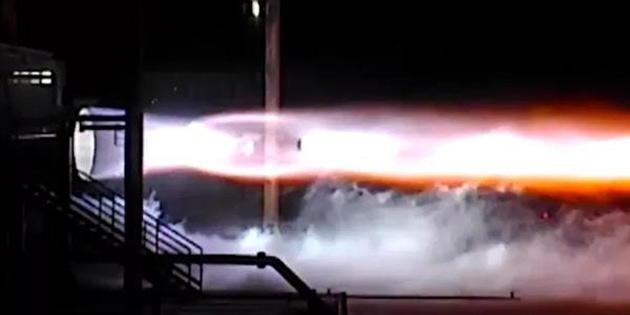 6 yıldır üzerinde çalışılan dev roket ilk defa çalıştırıldı!