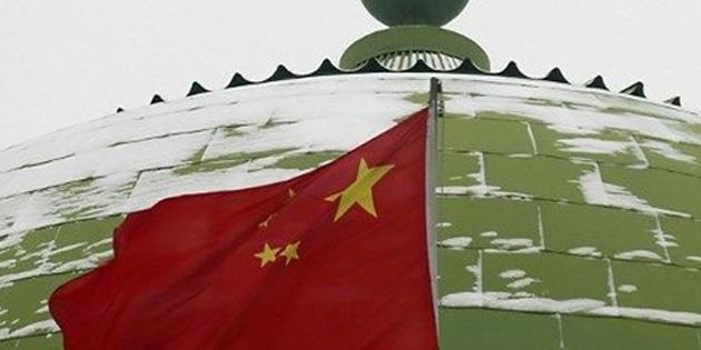 Çin'de camilere ulusal bayrak zorunluluğu