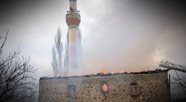 Yunanistan'da tarihi camide yangın