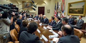 Trump, iş dünyası liderleriyle görüştü