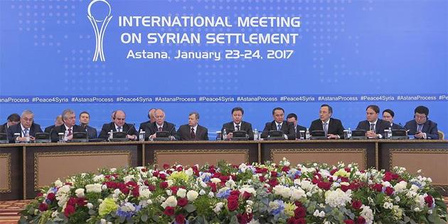 Astana'daki Suriye görüşmelerinin ilk günü sona erdi