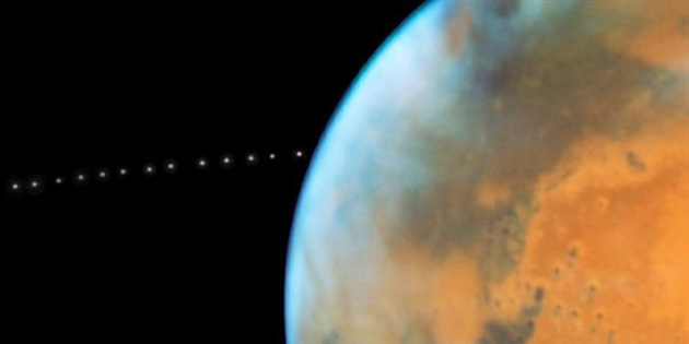 Hubble, yanlışlıkla Mars uydusunun yörüngesini keşfetti