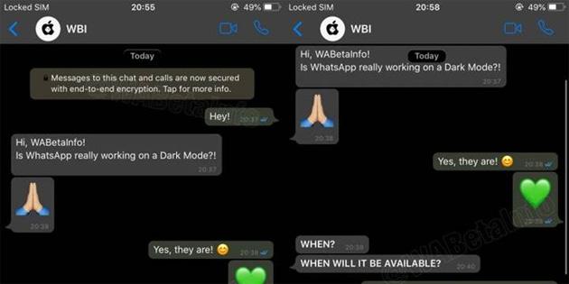 WhatsApp'a karanlık mod seçeneği geliyor
