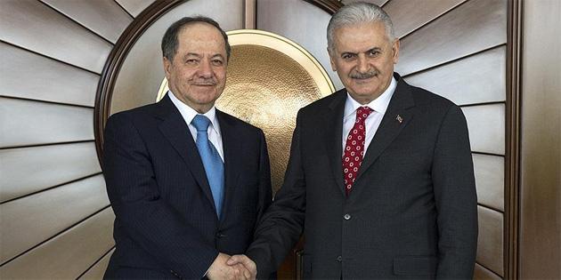 TC Başbakanı Yıldırım, Barzani ile telefonla görüştü