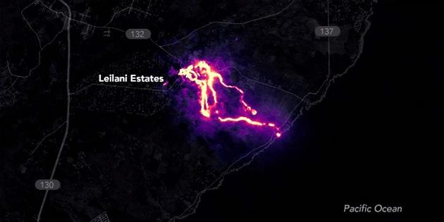 Hawaii'de Yaşanan Yanardağ Patlaması Uzaydan Nasıl Görünüyor?