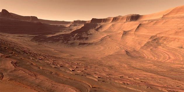 Mars'ta buzul �a�� izlerine rastland�