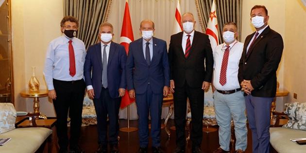 Cumhurbaşkanı Tatar YÖKAK ve YÖDAK Başkanları'nı kabul etti
