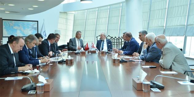 Sanayi Odası heyeti Ankara'da ASO ve ATO yetkilileriyle görüştü