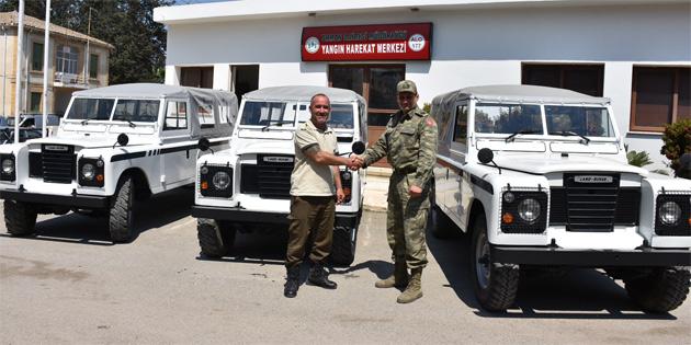Güvenlik Kuvvetleri, Turizm Bakanlığı'na araç hibe etti