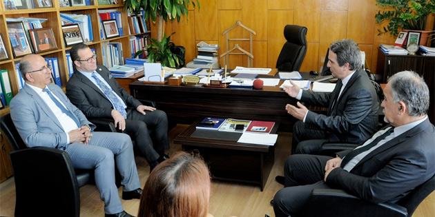 DPÖ Müsteşarı Muhtaroğlu KTTO heyetini kabul etti