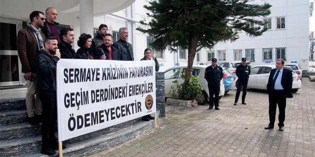 KTOEÖS, Maliye Bakanlığı önünde eylem yaptı