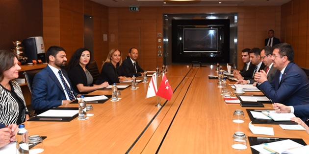 Atun ile TC Ekonomi bakanı Zeybekçi heyetler ARASI toplantı yaptı