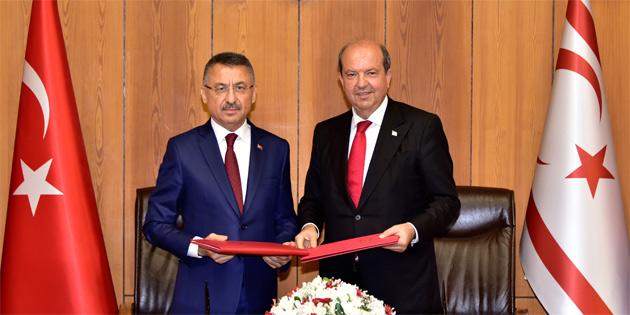 Türkiye ile Kuzey Kıbrıs Türk Cumhuriyeti arasında iktisadi ve mali işbirliği anlaşması imzalandı