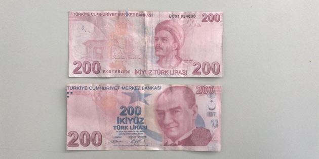 SAHTE 200 TL UYARISI