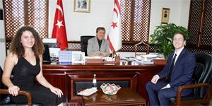 Turizm ve Çevre Bakanı Üstel, Take Action Cyprus Temsilcilerini kabul etti