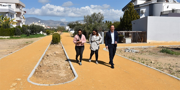 LTB, Metehan bölgesinde yürüyüş ve bisiklet yolu projesinin ilk etabını tamamladı