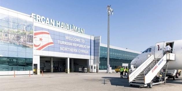 Bugün İstanbul'dan gelecek uçağın 16.30'da Ercan'a inmesi bekleniyor