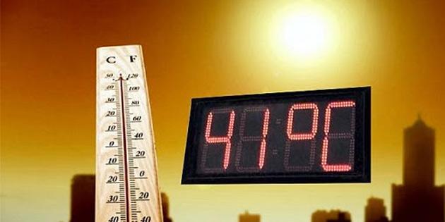 Sıcaklık 41 dereceye yükseliyor