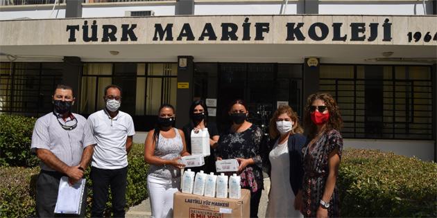 LTB, Lefkoşa'daki kamu okullarına maske ve dezenfektan dağıttı