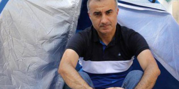 Ara bölgede çadır kuran İranlı