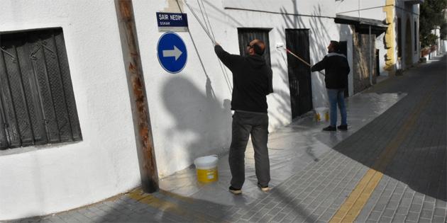 Girne Belediyesi Yukarı Girne Mahallesi'nde çevre düzenlemesi yaptı