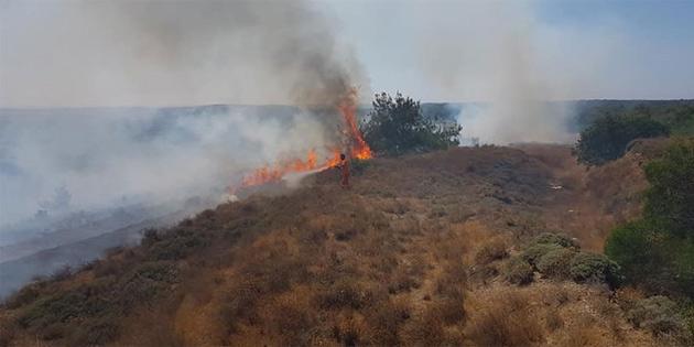 Dün Lefke dışında üç yerde daha yangın çıktı