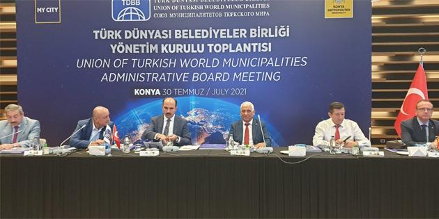 Özçınar, Türk Dünyası Belediyeler Birliği toplantısı'na katıldı