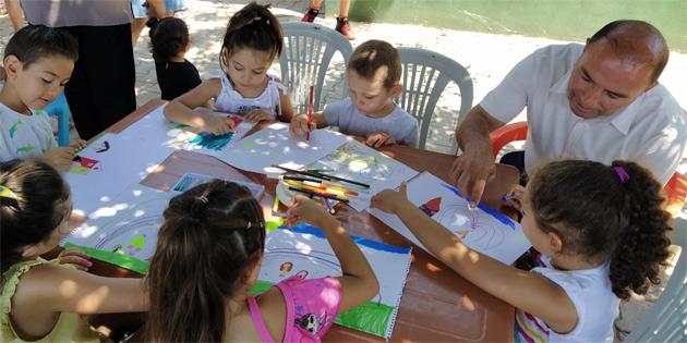 """Yeniboğaziçi """"Çocuk Sanat Atölyesi' etkinlikleri başladı"""